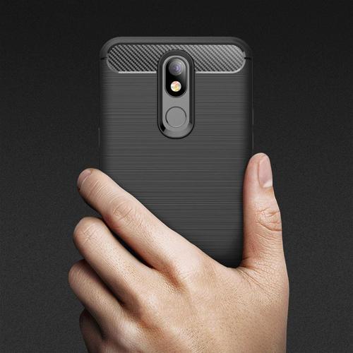 Carbon Case Flexible Cover TPU Case for LG K40 X420 black