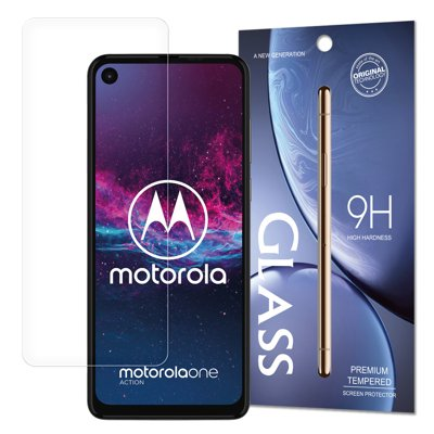 Tempered Glass 9H Screen Protector for Motorola One Action / Motorola One Vision (packaging – envelope)