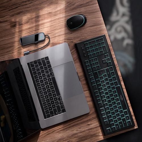 Baseus Adapter HUB USB Typ C auf 4x USB 3.0 / USB Typ C PD für MacBook / PC grau (CAHUB-EZ0G)