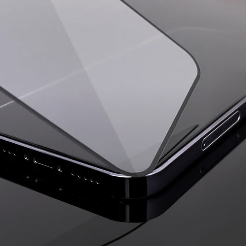 Wozinsky Tempered Glass Full Glue Super Robust Panzerglas Vollbild Hartglas mit Rahmen Case Friendly für Motorola One Action / Motorola One Vision schwarz