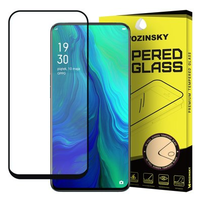 Wozinsky Tempered Glass Full Glue Super Robust Panzerglas Vollbild Hartglas mit Rahmen Case Friendly für Oppo Reno 6.6'' schwarz